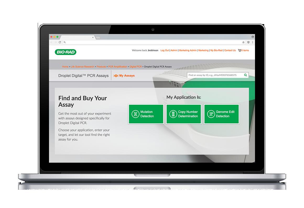 Biorad Assay Designer Landing Page Responsive Laptop