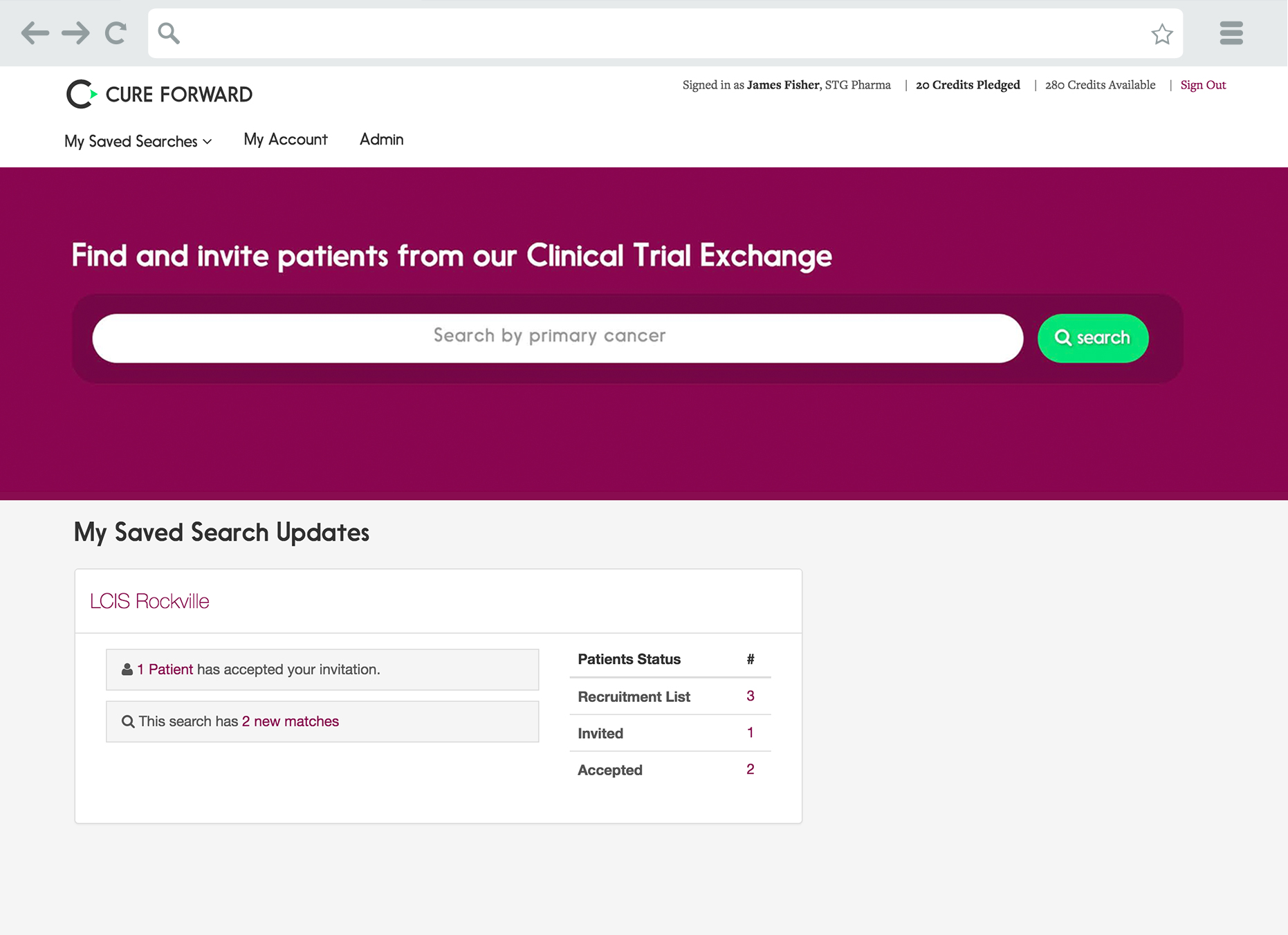 Cure Forward Clinical Trial Exchange – 5AM Solutions