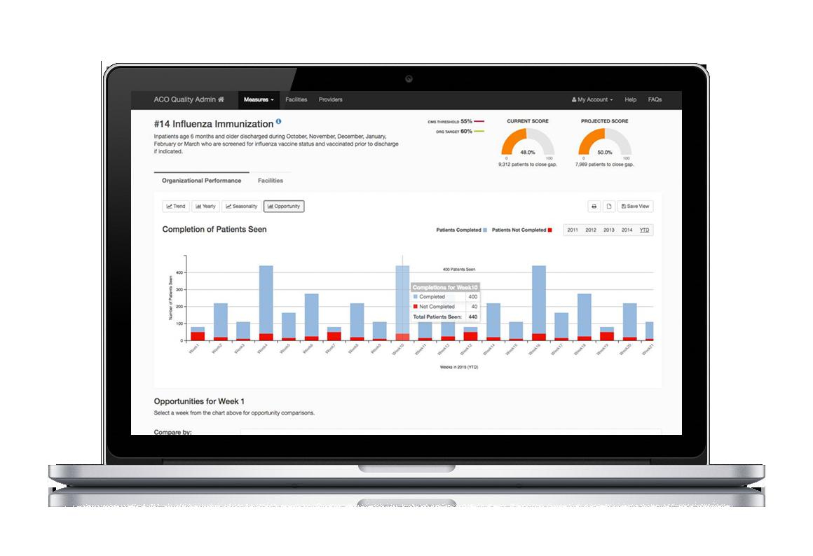 HealthLogix Data Screen Laptop Mockup