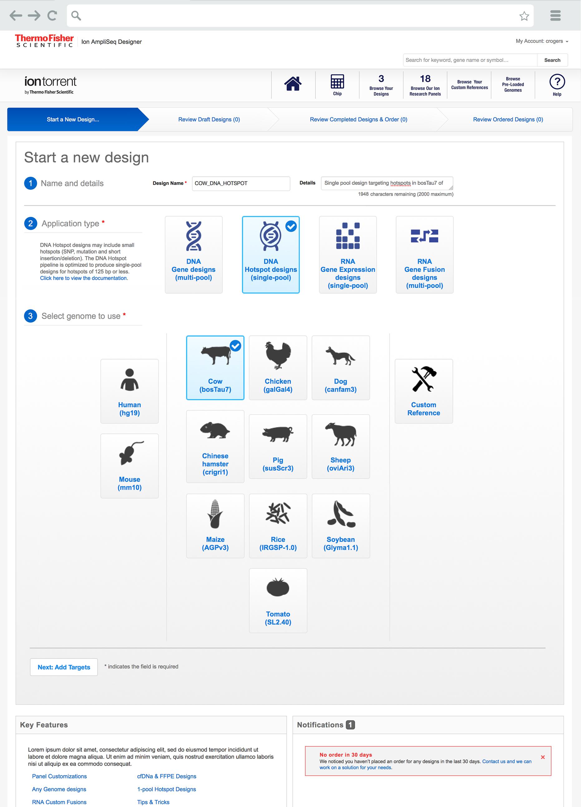 Ion Torrent New Design Screen