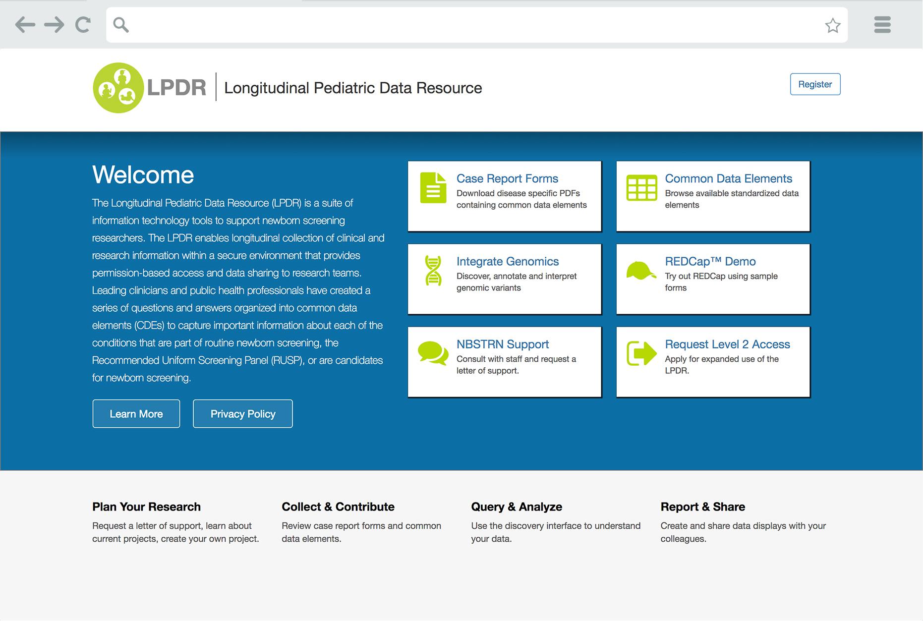 LPDR Landing Page