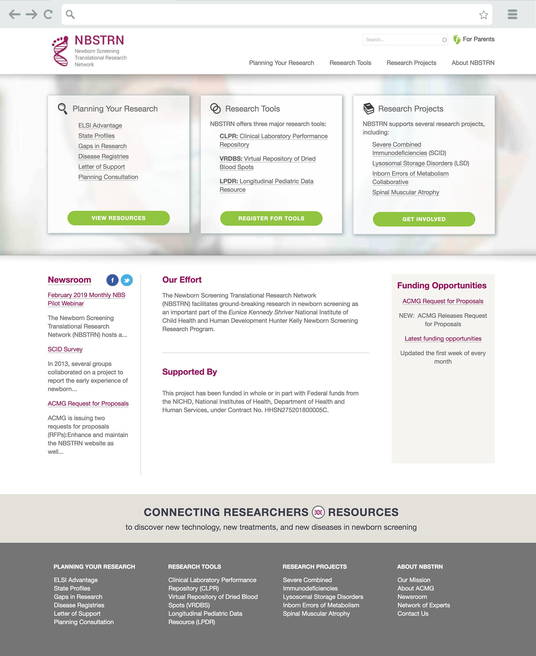NBSTRN Landing Page