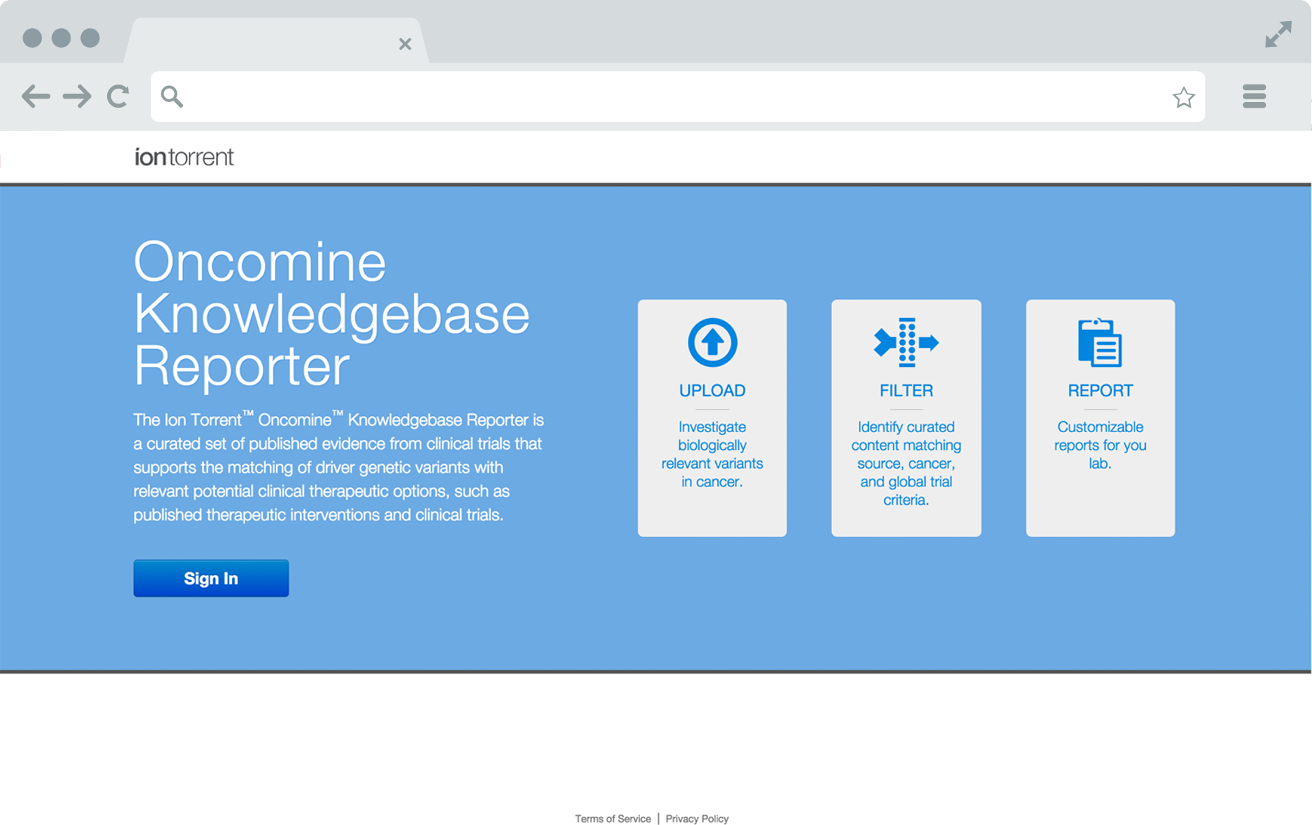 Oncomine Landing Page